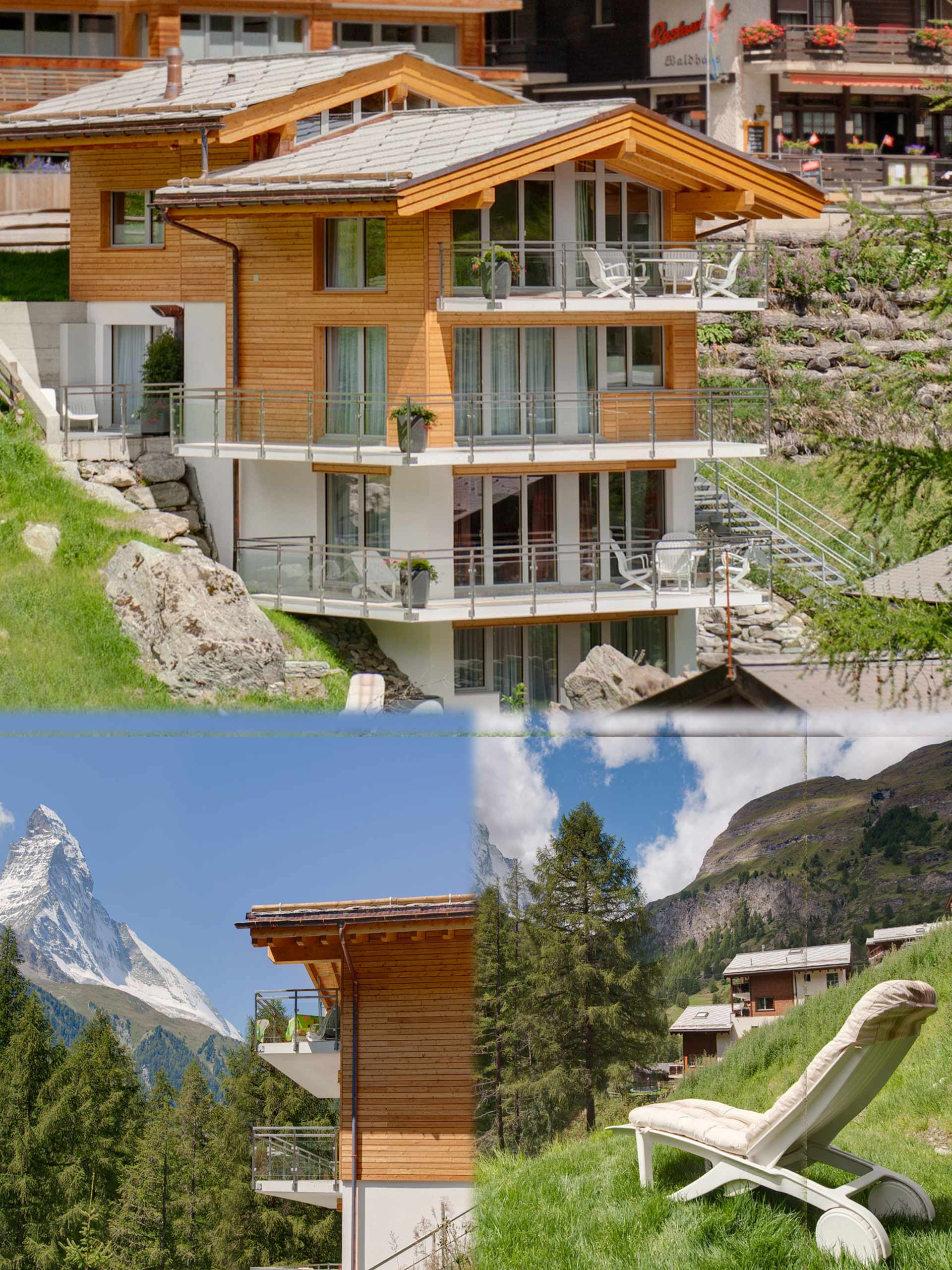 You will find House Gloria in Winkelmatten. Winkelmatten is surrounded by flowery meadows at 1700 m altitude and is a district of Zermatt, built on the sunny side of the slope to the south of the village.