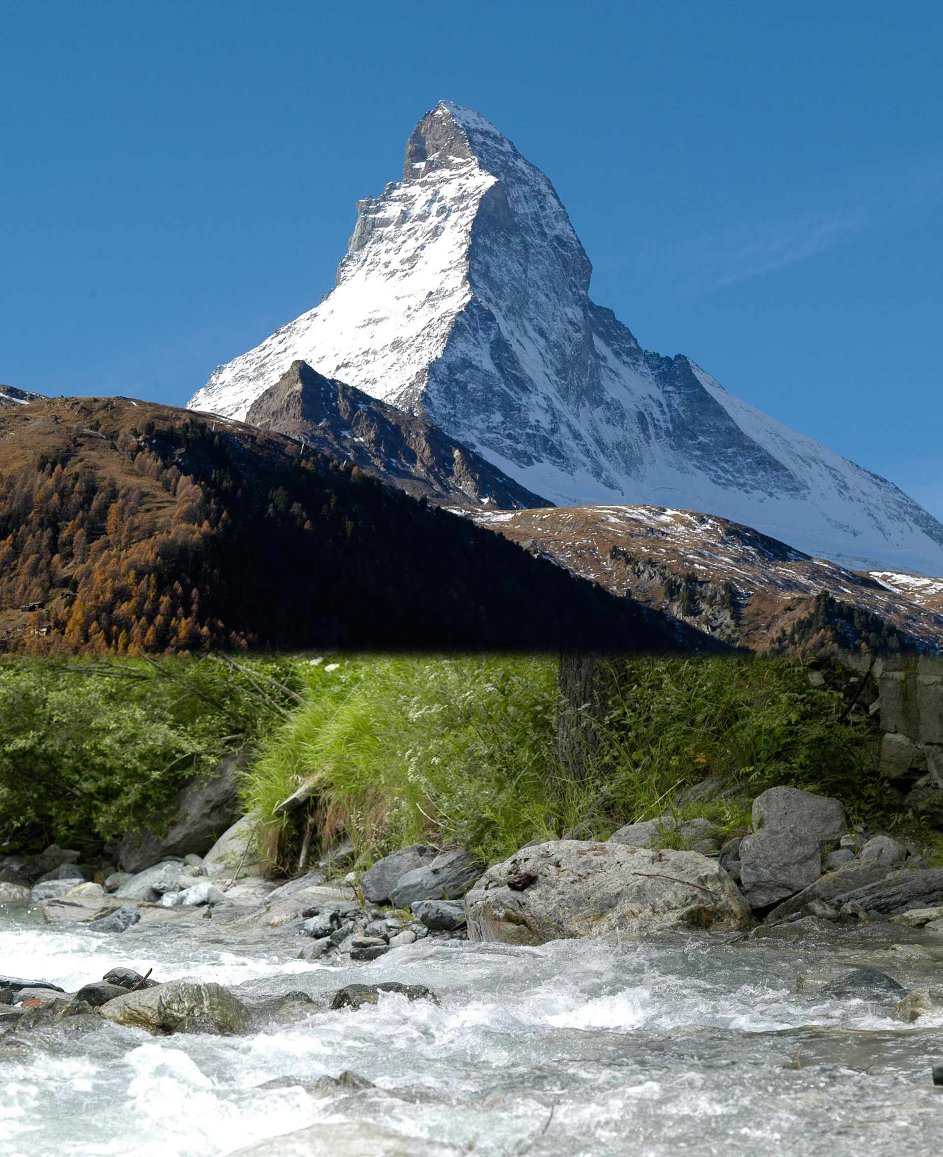 150 Years Since the First Ascent of the Matterhorn The Matterhorn will be celebrated in 2015. 150 years ago, on 14 July 1865, the first people stood on the summit. This is what is being celebrated – with the reopening of the Hörnlihütte, the Open-Air Theatre, an Epoch Week in July and many, many other festivities.